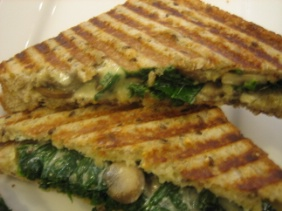 GRILLED CHEESE WITH KALE AND RIOPELLE