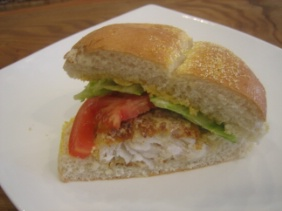 HADDOCK BURGERS WITH CURRY MAYO