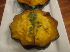 STUFFED SQUASH WITH RISOTTO AND LOTS OF CHEESE
