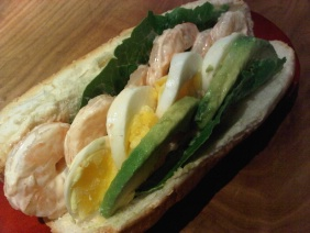 SHRIMP LOUIS SALAD SANDWICH