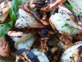 GRILLED SPOT PRAWNS OR SHRIMP