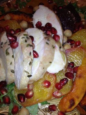 WINTERISH CHICKEN SALAD WITH ROOT VEGETABLES