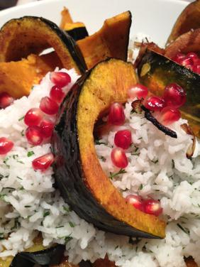 TURKISH RICE PILAF WITH ROASTED PUMPKIN