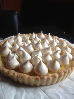 LEMON MERINGUE TART WITH COCONUT ALMOND CRUST, DAIRY FREE LEMON CURD AND BAKED MERINGUES