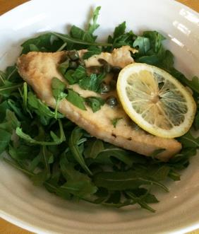 SWORDFISH WITH LEMON AND CAPERS