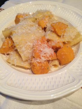 GIANT RIGATONI WITH BUTTERNUT AND PARMIGIANO REGGIANO
