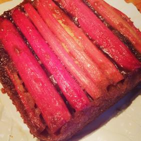 UPSIDE DOWN RHUBARB BUTTERMILK CAKE