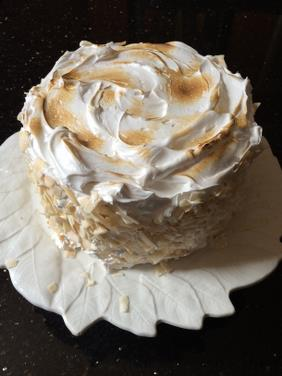 MARK'S COCONUT BIRTHDAY CAKE WITH BURNT MARSHMALLOW FROSTING