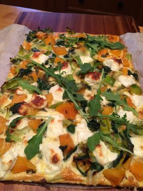 PUMPKIN AND SPINACH FRITTATA SLICE