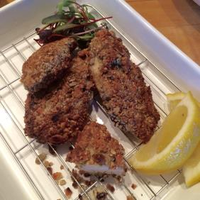 NUT AND SEED CRUSTED CHICKEN