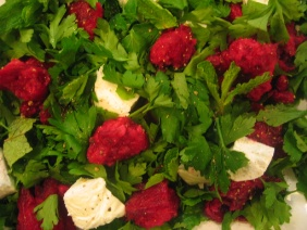 PRICKLY PEAR AND CHEESE SALAD WITH MINT AND LIME