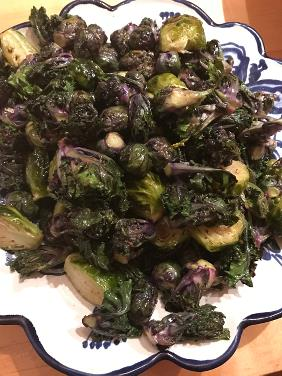 ROASTED BRUSSELS SPROUTS AND KALETTES