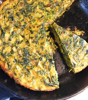 PERSIAN HERB AND MIXED GREEN OMELETTE