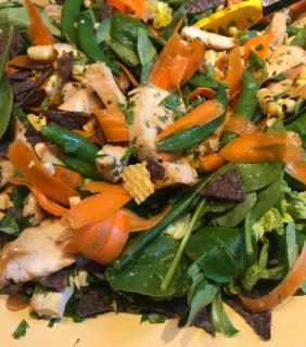CHINESE CHICKEN SALAD WITH PEANUT AND LIME DRESSING