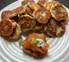 MASHED POTATO PANCAKES (LATKES) (CREPES)