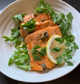 ARCTIC CHAR WITH LEMON AND CAPERS (PICCATA)