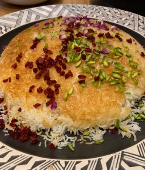 PERSIAN RICE WITH SAFFRON
