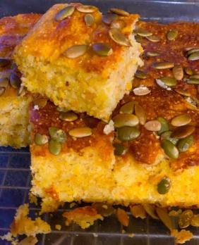 CORNBREAD WITH PUMPKIN, CHEESE AND JALAPENO