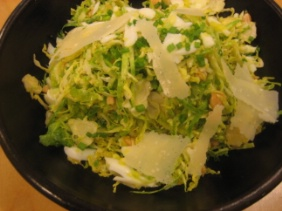 BRUSSELS SPROUT SALAD WITH TOASTED ALMONDS