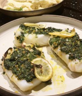 ROASTED COD WITH CILANTRO CRUST