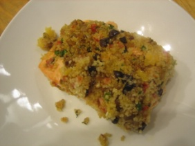 ROAST SALMON WITH COUSCOUS SALSA