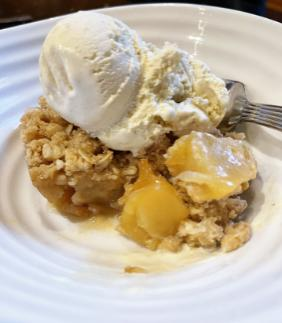 CARAMELIZED APPLE & PEAR CRUMBLE